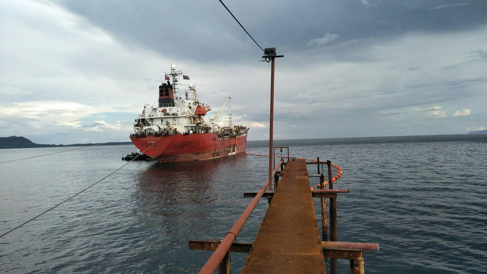The Chem Peace moored at a jetty